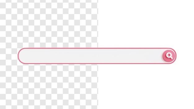 Conceito de imagem da barra de pesquisa 3d em branco