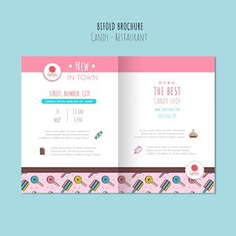 Conceito de loja de doces para brochura