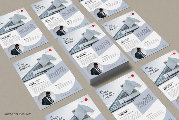 Conceito de maquete de folheto de negócios