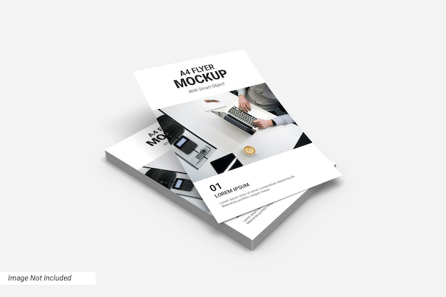Conceito de maquete de panfleto comercial