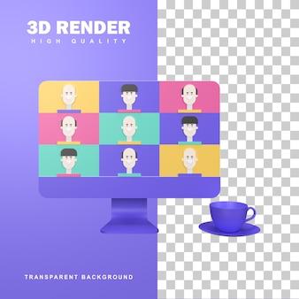 Conceito de marketing de vídeo de renderização 3d com alvo e megafone.