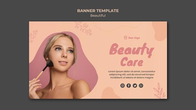 Conceito de modelo de banner de beleza