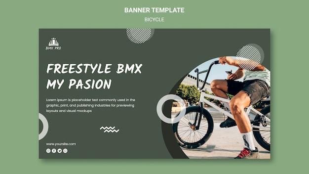 Conceito de modelo de banner de bicicleta