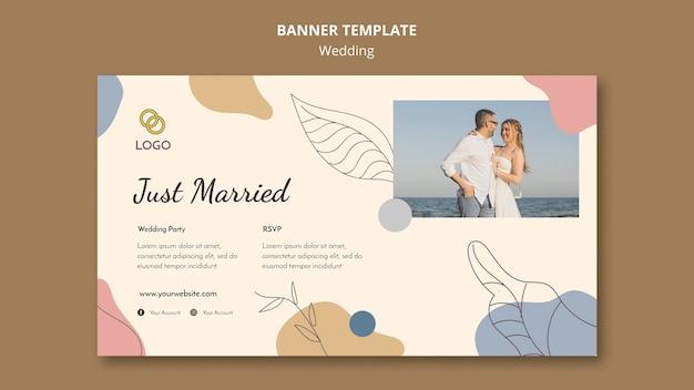 Conceito de modelo de banner de casamento