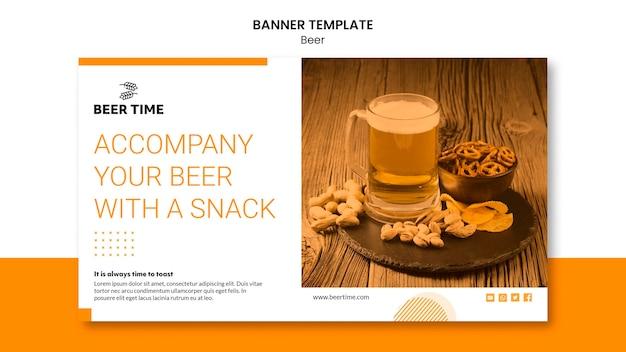 Conceito de modelo de banner de cerveja