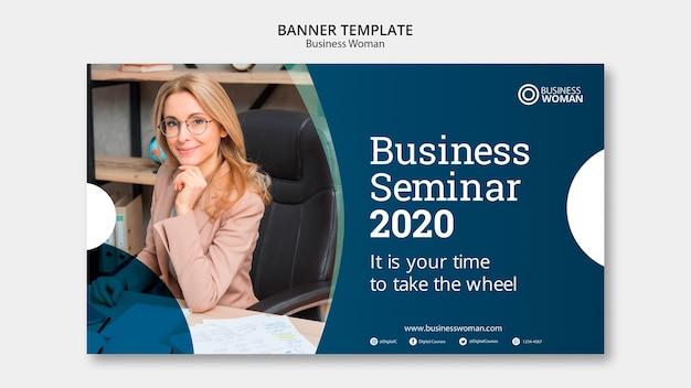 Conceito de modelo de banner de negócios