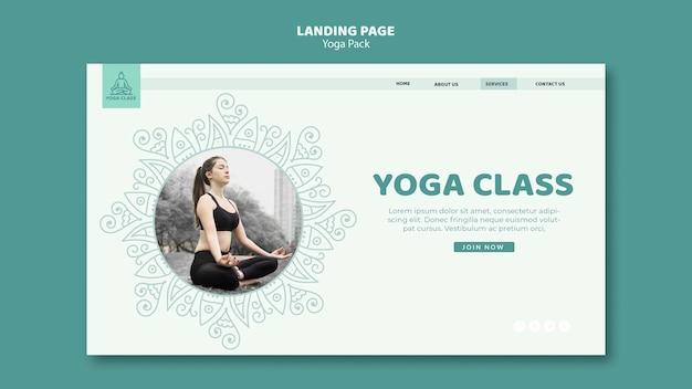 Conceito de modelo de banner de pacote de ioga