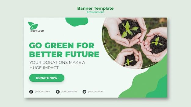 Conceito de modelo de banner ecológico
