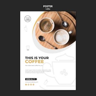 Conceito de modelo de cartaz de café