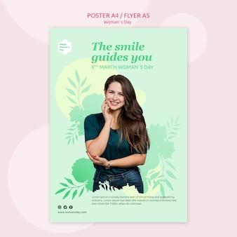 Conceito de modelo de cartaz de dia das mulheres Psd grátis