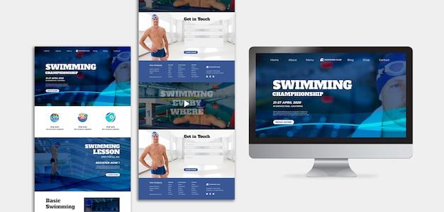 Conceito de modelo de natação