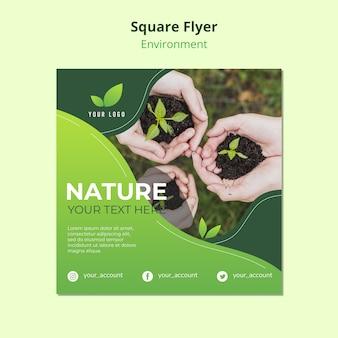 Conceito de modelo de panfleto da natureza