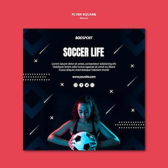 Conceito de modelo de panfleto de futebol