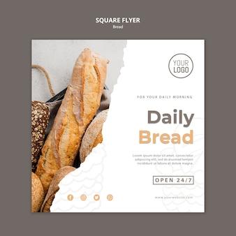 Conceito de modelo de panfleto de pão