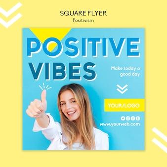 Conceito de modelo de panfleto de positivismo