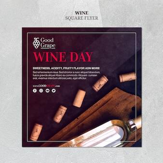 Conceito de modelo de panfleto de vinho