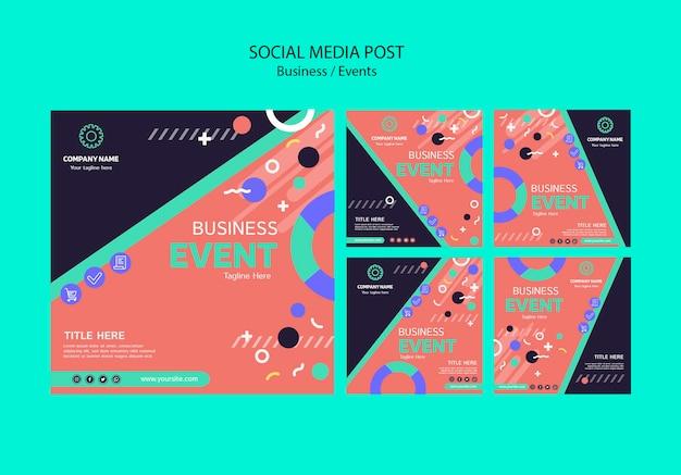 Conceito de modelo on-line para posts de mídia social de negócios