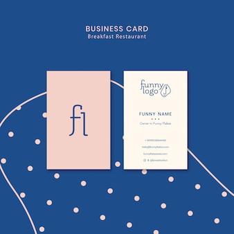 Conceito de modelo para cartão de visita de restaurante