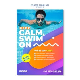 Conceito de natação para design de cartaz