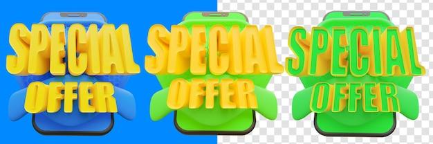 Conceito de oferta especial 3d isolado