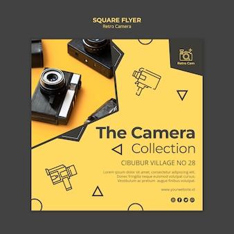 Conceito de panfleto de câmera retrô
