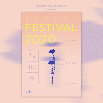Conceito de panfleto de festival de música primavera