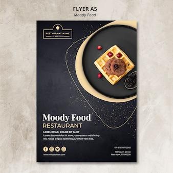 Conceito de panfleto de restaurante de comida temperamental