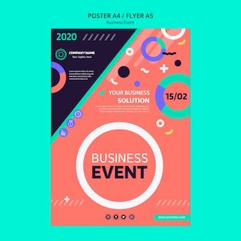 Conceito de panfleto para evento de negócios