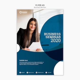 Conceito de panfleto para o modelo de negócios