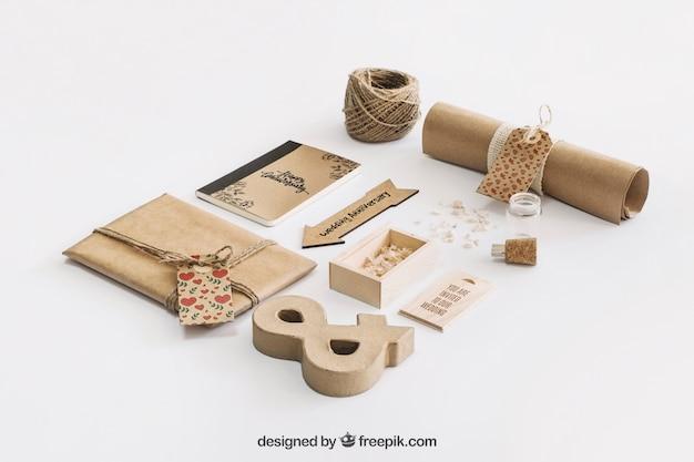 Conceito de papelão de papelão