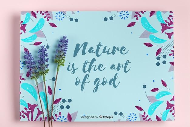 Conceito de pintura de natureza com lavanda