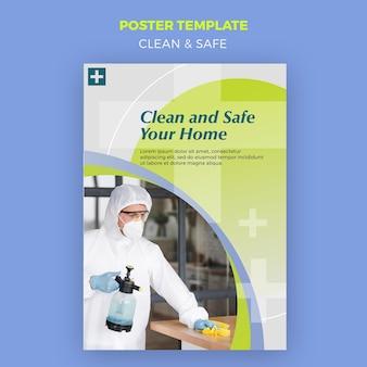 Conceito de pôster limpo e seguro