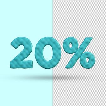 Conceito de renderização 3d 20 por cento de desconto premium psd