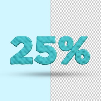 Conceito de renderização 3d 25 por cento de desconto premium psd premium psd