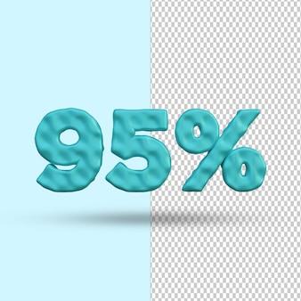 Conceito de renderização 3d 95 por cento de desconto premium psd premium psd