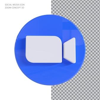 Conceito de renderização 3d de zoom
