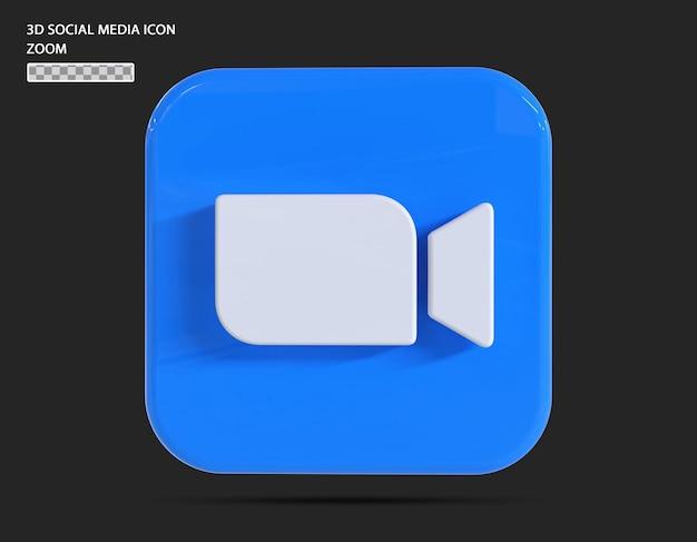 Conceito de renderização 3d do ícone de zoom