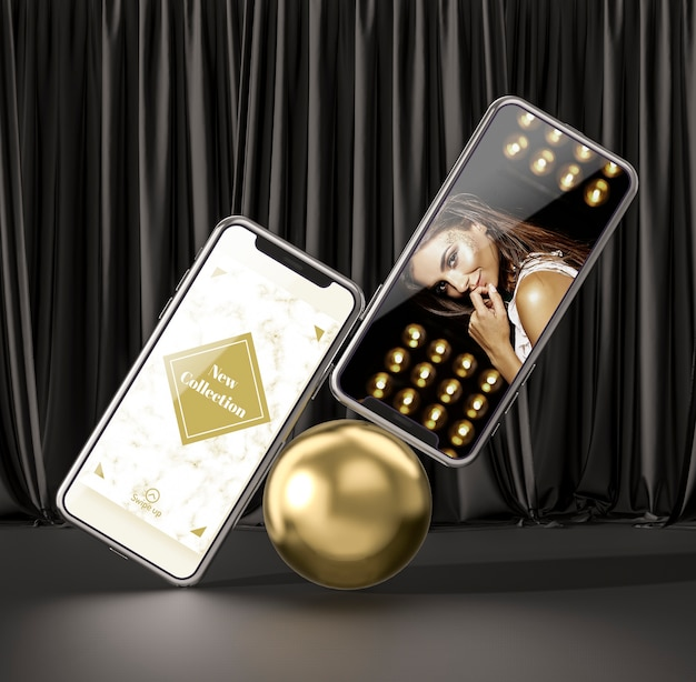 Conceito de smartphone maquete 3d