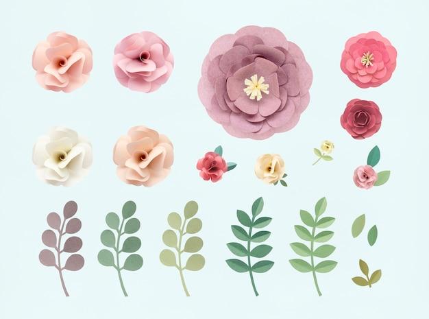 Conceito de textura floral padrão rosa