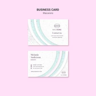 Conceito minimalista para cartão de visita macarons