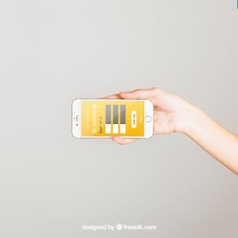 Conceito mockup de smartphone horizontal