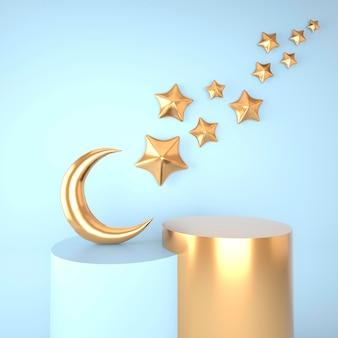 Conceito ramadan kareem em renderização 3d Psd Premium