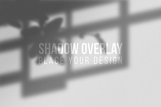 Conceito transparente de efeito de sobreposição de sombras e folhas