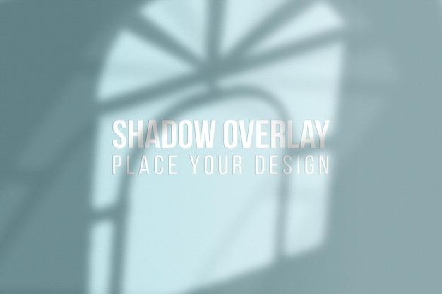 Conceito transparente do efeito de sobreposição das sombras da janela