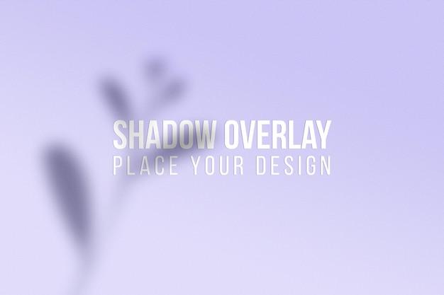 Conceito transparente do efeito de sobreposição de sombras de folhas