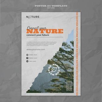 Conecte seu modelo de pôster da natureza