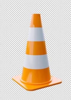 Cones de trânsito de plástico laranja