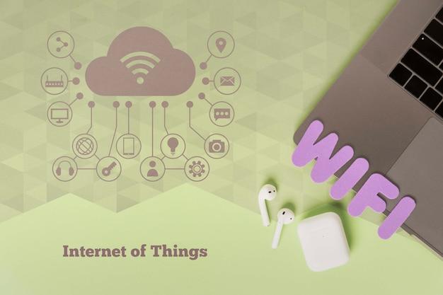 Conexão wi-fi à internet para dispositivos