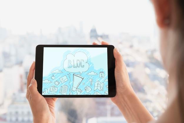 Conexão wi-fi para mock-up de tablet