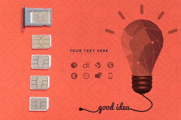 Conexão wifi mock-up 5g online